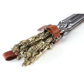 Кожаный колчан с шампурами - Звери (цельное литье),
