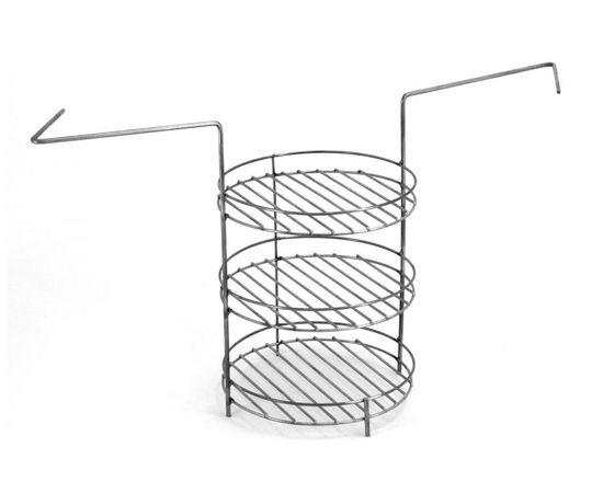 Этажерка (решетка) 3-х ярусная средняя с дополнительным кольцом,