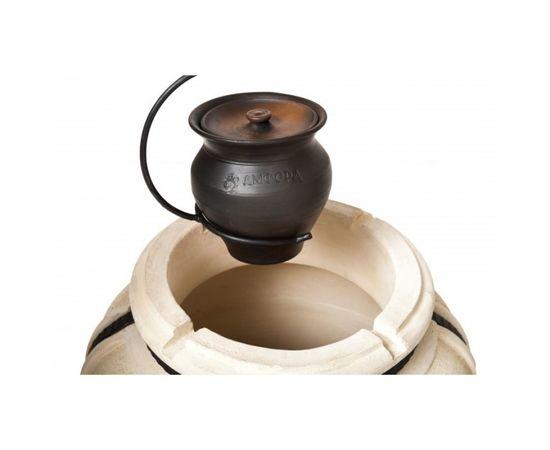 Чугунок 2 л керамический с крышкой для пост-томления в остывающем тандыре с эффектом «Русской печи»,