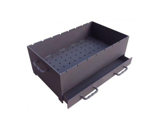 Жаровня с зольниками АМ (длина - 600 мм) 5мм,