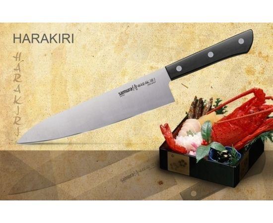 Шеф нож SAMURA HARAKIRI SHR-0085B/Y (черная рукоять),