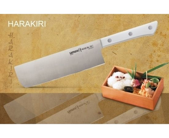 Японский топорик SAMURA HARAKIRI SHR-0043W (белая рукоять),