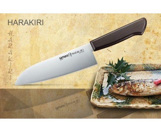 Нож Сантоку SAMURA HARAKIRI SHR-0095B/Y (черная рукоять),