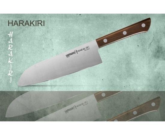 Нож Сантоку SAMURA HARAKIRI SHR-0095WO/K (рукоять с рисунком дерева),