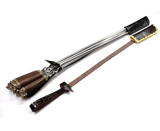 Набор для шашлыка c ножом Саблезубые тигры-5 (объемная рукоять),