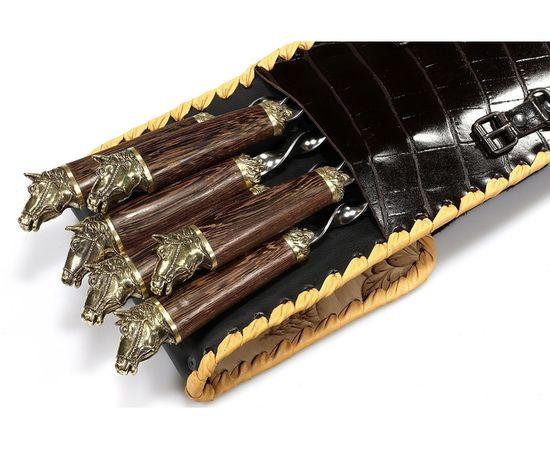 Набор для шашлыка Лошади-2 (объемная рукоять),