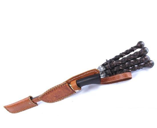 Кованые шампуры в колчане с ножом - Кузнец,