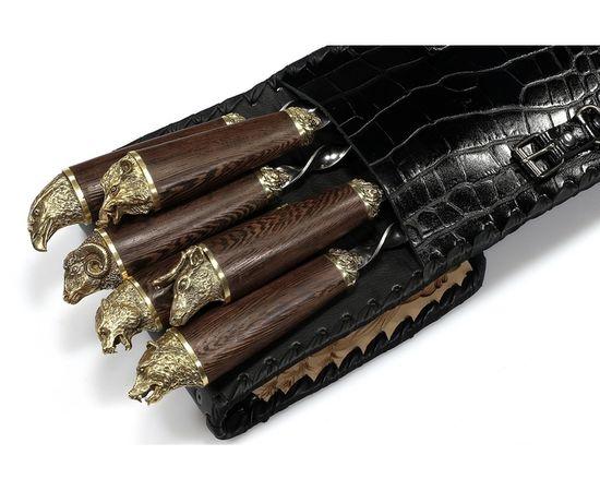 Набор для шашлыка Разные звери-3 (объемная рукоять),