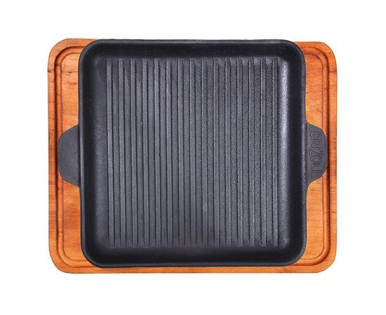 Сковорода-гриль квадратная,чугунная с подставкой 180х180х25,
